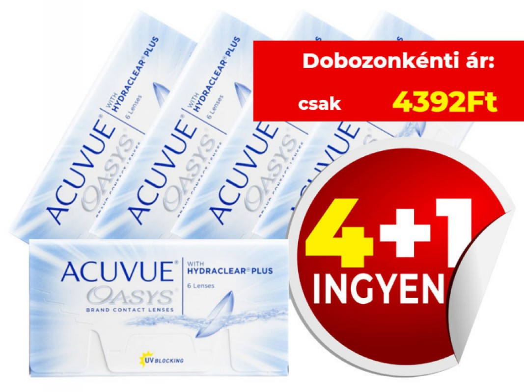 4+1 Acuvue Oasys with Hydraclear Plus (6db/doboz)