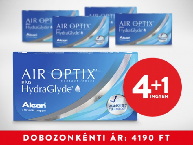 4+1 Air Optix Plus Hydraglyde (3db/doboz)