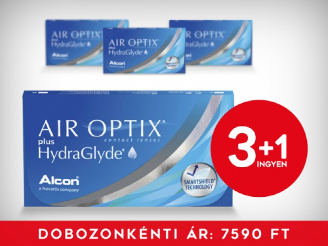 3+1 Air Optix Plus Hydraglyde (6db/doboz)