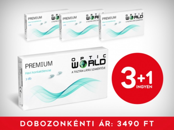 3+1 Optic World Premium  (3 DB/doboz)