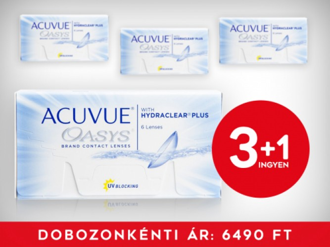 3+1 Acuvue Oasys with Hydraclear Plus (6 db/doboz)